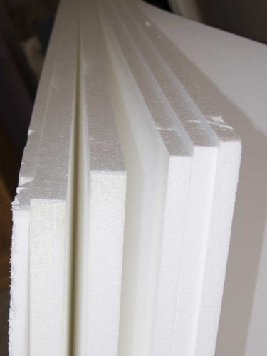 Polystyrene or Styrofoam sheets for reptile background